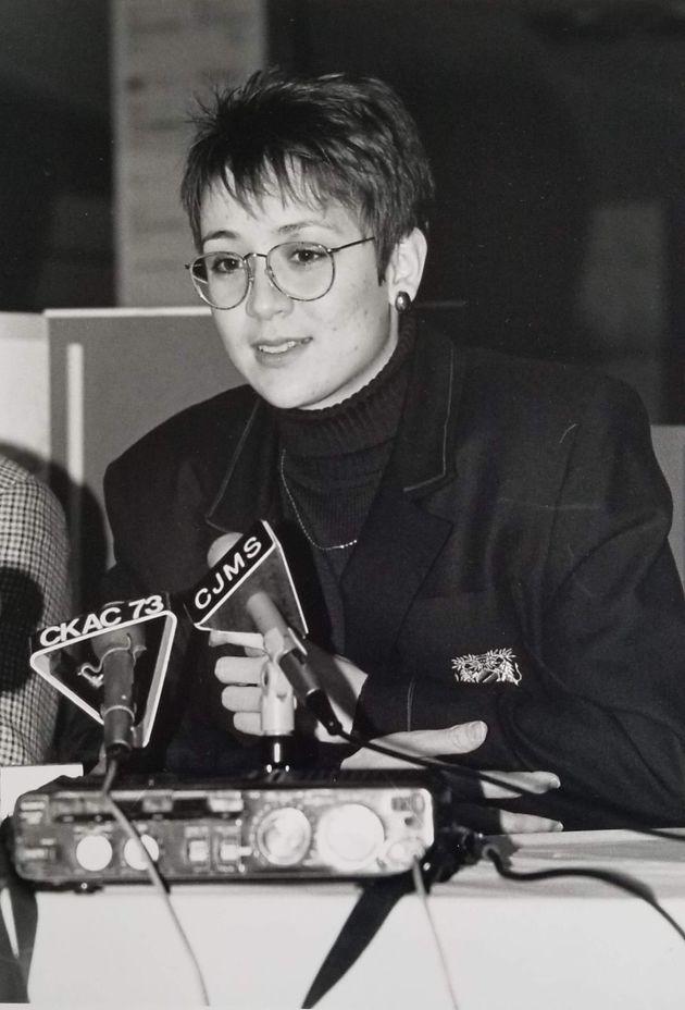Nathalie Provost en entretien avec les médias après les