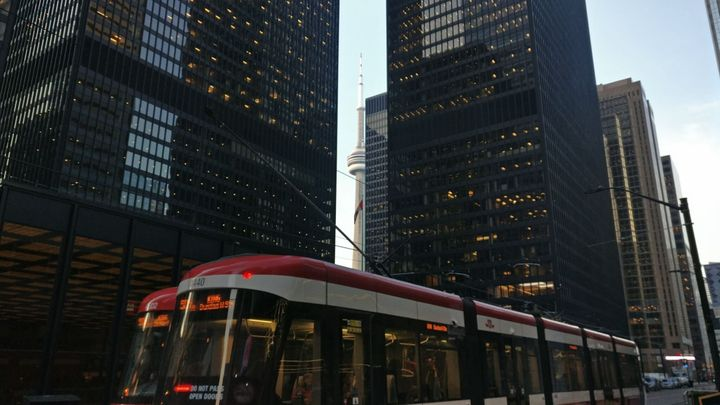 I used to streetcar, but I'm walking people now. Here's a scene from my daily walk to work along King St. in Toronto.