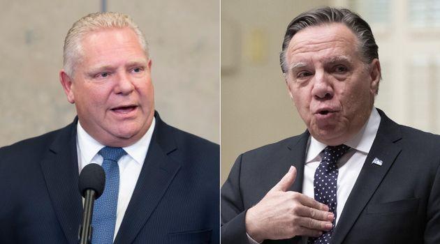 Ontario Premier Doug Ford confirmed Thursday that he won't raise Bill 21 when he meets with Quebec Premier François Legault.