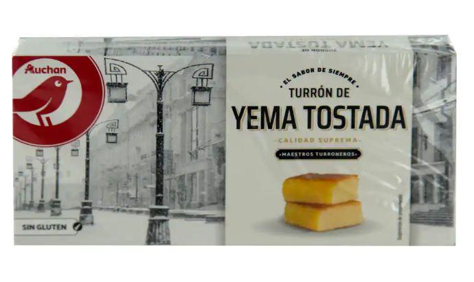 Turrón de yema tostada de Alcampo.