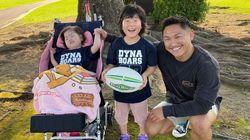 ラグビーチーム「ダイナボアーズ」選手たちが難病児支援を呼びかける。「#優しい筋肉」プロジェクト