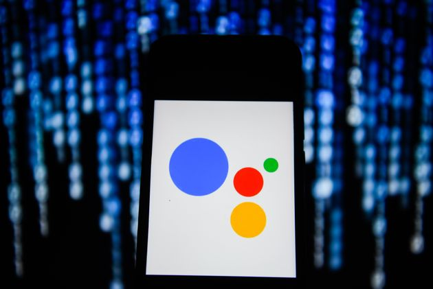 POLAND - 2019/11/22: In this photo illustration a Google Assistant logo seen displayed on a smartphone....