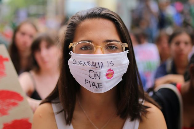 A student activist poses for a portrait during a 'Solidarity Sit-down' outside of the office of the Liberal...