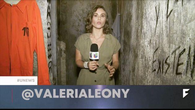 Valeria León, periodista de televisión dentro de una