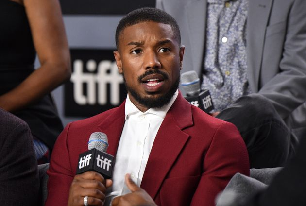 Michael B. Jordan attends a press conference for
