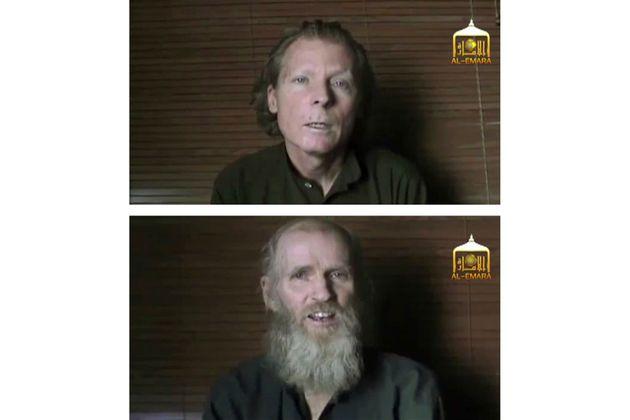 Γουίξ και Κινγ. Η εικόνα των δύο ομήρων από βίντεο που είχαν δώσει στη δημοσιότητα η Ταλιμπάν το 2017.