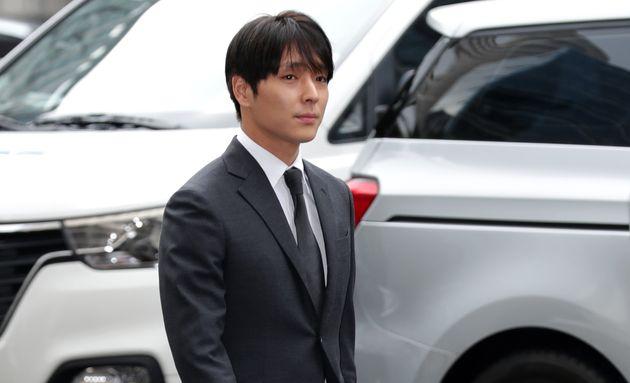 Choi Jong-Hoon, aka Jonghoon (Jong Hoon) former member of South Korean boy band FTisland is seen arriving...