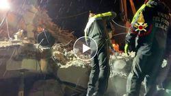 Vigili del fuoco italiani lavorano senza sosta per recuperare i dispersi in Albania