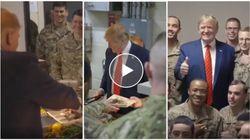 Da presidente a cameriere. Trump serve alla mensa dei soldati in Afghanistan
