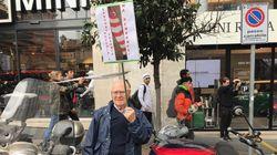 """Il """"sardone"""" di 78 anni dalla piazza di Roma:"""