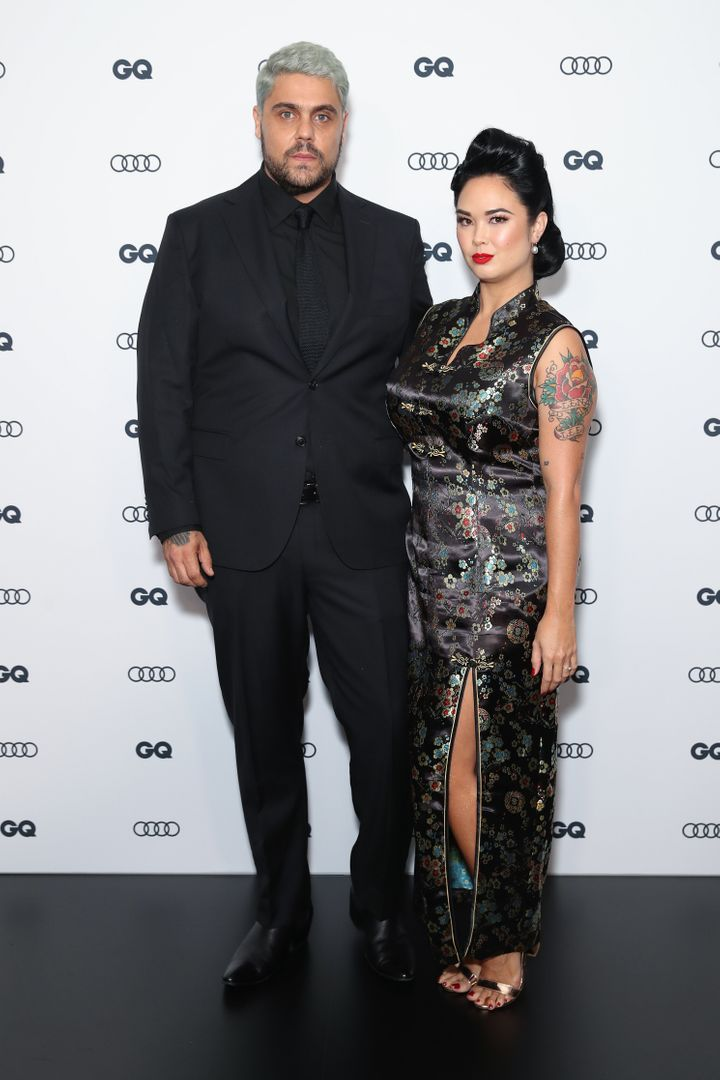 Dan Sultan and partner Bronnie Jane Lee arrive at the 2019 GQ Man of The Year Awards.