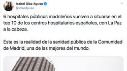 Un médico de Madrid arrasa al contar la realidad de su día a día tras este tuit de Díaz