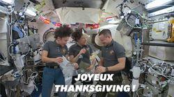 Les astronautes américains présentent leur repas pour