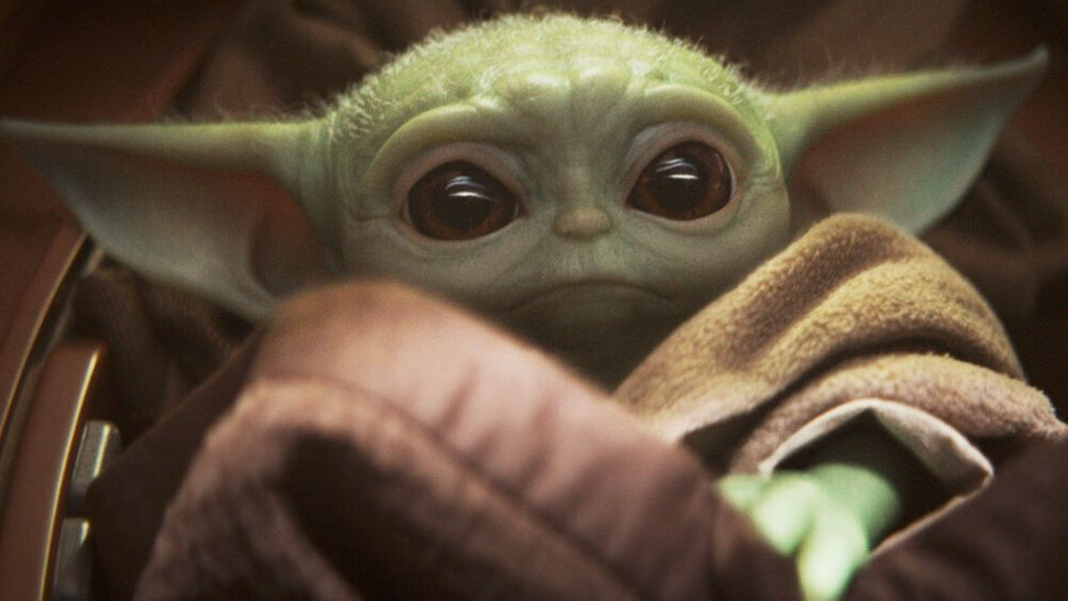 "And the internet feels the force of disney. Gifs of the ""baby yoda"" character from the Mandalorian were apparently removed over copyright issues - but have since been restored."