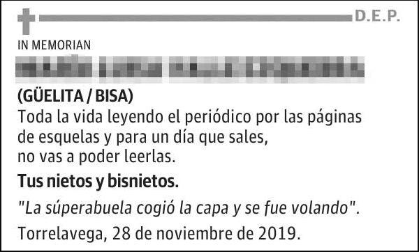 Esquela 'El Diario
