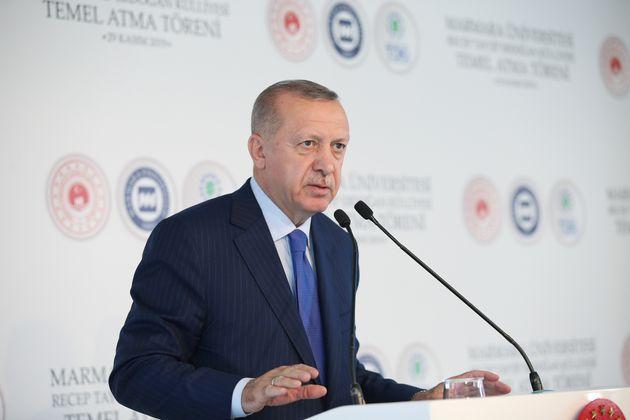 Recep Tayyip Erdogan, ici à l'Université Marmara d'Istanbul, le 29 novembre