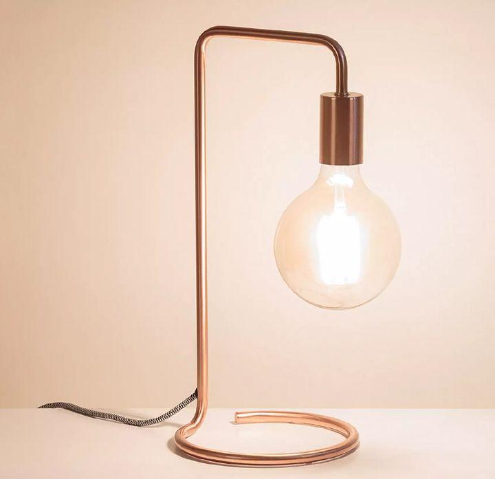 Celio Copper Table Lamp, Oliver Bonas