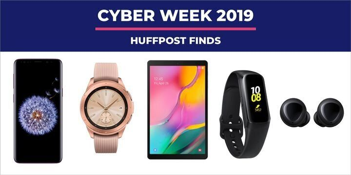 "Whether you&rsquo;re looking for a new smartwatch or you&rsquo;re looking to upgrade to the new&nbsp;<a href=""https://www.huffingtonpost.in/entry/samsung-galaxy-fold-review-battery-display-camera-performance_in_5dc906f0e4b0fcfb7f69228b"" target=""_blank"" rel=""noopener noreferrer"" data-ylk=""subsec:paragraph;g:16ec7974-0538-3e01-b557-8d5f2dc5f7b9;itc:0;cpos:2;pos:1;elm:context_link"" data-rapid_p=""5"" data-v9y=""1"">Galaxy Fold</a>, there are plenty of deals out there on Samsung products for&nbsp;<a href=""https://www.huffpost.com/topic/black-friday"" target=""_blank"" rel=""noopener noreferrer"" data-ylk=""subsec:paragraph;itc:0;cpos:2;pos:2;elm:context_link"" data-rapid_p=""6"" data-v9y=""1"">Black Friday</a>&nbsp;and&nbsp;<a href=""https://www.huffpost.com/topic/cyber-monday"" target=""_blank"" rel=""noopener noreferrer"" data-ylk=""subsec:paragraph;itc:0;cpos:2;pos:3;elm:context_link"" data-rapid_p=""7"" data-v9y=""1"">Cyber Monday</a>. Retailers like&nbsp;<a href=""https://www.walmart.com/m/deals/christmas-gifts/electronics/tvs"" target=""_blank"" rel=""noopener noreferrer"" data-ylk=""subsec:paragraph;itc:0;cpos:4;pos:1;elm:context_link"" data-rapid_p=""8"" data-v9y=""1"">Walmart</a>,&nbsp;<a href=""https://www.target.com/c/tvs-home-theater-electronics/-/N-5xtdj"" target=""_blank"" rel=""noopener noreferrer"" data-ylk=""subsec:paragraph;itc:0;cpos:4;pos:2;elm:context_link"" data-rapid_p=""9"" data-v9y=""1"">Target</a>,&nbsp;<a href=""https://www.amazon.com/tvs/b?ie=UTF8&amp;node=172659&amp;tag=thehuffingtop-20"" target=""_blank"" rel=""noopener noreferrer"" data-ylk=""subsec:paragraph;itc:0;cpos:4;pos:3;elm:context_link"" data-rapid_p=""10"" data-v9y=""1"">Amazon</a>&nbsp;and even&nbsp;<a href=""https://fave.co/2MHPUUz"" target=""_blank"" rel=""noopener noreferrer"" data-ylk=""subsec:paragraph;itc:0;cpos:4;pos:4;elm:context_link"" data-rapid_p=""11"" data-v9y=""1"">Samsung</a>&nbsp;are offering serious savings on all things Galaxy &mdash; including phones, tablets and watches for Cyber Week 2019. We&rsquo;ve seen deals on everything from free Galaxy Buds as add-ons to new phone purchases and tablets with big touchscreens."