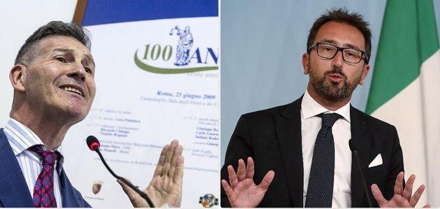 Luca Poniz, presidente Anm - Alfonso Bonafede, ministro della