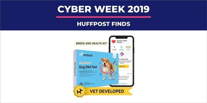"If your&nbsp;<a href=""https://www.huffpost.com/entertainment/topic/dogs"" target=""_blank"" rel=""noopener noreferrer"" data-ylk=""subsec:paragraph;itc:0;cpos:2;pos:1;elm:context_link"" data-rapid_p=""1"" data-v9y=""1"">four-legged friend</a>&nbsp;isn&rsquo;t impressed with treats and toys, we&rsquo;ve got a&nbsp;<a href=""https://www.huffpost.com/entertainment/topic/black-friday"" target=""_blank"" rel=""noopener noreferrer"" data-ylk=""subsec:paragraph;itc:0;cpos:2;pos:2;elm:context_link"" data-rapid_p=""2"" data-v9y=""1"">Black Friday</a>&nbsp;and&nbsp;<a href=""https://www.huffpost.com/entertainment/topic/cyber-monday"" target=""_blank"" rel=""noopener noreferrer"" data-ylk=""subsec:paragraph;itc:0;cpos:2;pos:3;elm:context_link"" data-rapid_p=""3"" data-v9y=""1"">Cyber Monday</a>&nbsp;2019 deal on our favorite dog DNA kit that&rsquo;s worth wagging about. Last year our dog-loving editor&nbsp;<a href=""https://www.huffpost.com/entry/best-dog-dna-test-kit-reviews-2019_l_5cbde51be4b06605e3f18a2e"" target=""_blank"" rel=""noopener noreferrer"" data-ylk=""subsec:paragraph;g:7e9236ed-7575-31cd-9932-737a89ed5895;itc:0;cpos:4;pos:1;elm:context_link"" data-rapid_p=""4"" data-v9y=""1"">tested and compared two top dog DNA test kits</a>&nbsp;&mdash;&nbsp;<a href=""https://amzn.to/2qIohSv"" target=""_blank"" rel=""noopener noreferrer"" data-ylk=""subsec:paragraph;itc:0;cpos:4;pos:2;elm:context_link"" data-rapid_p=""5"" data-v9y=""1"">Embark</a>&nbsp;and&nbsp;<a href=""https://amzn.to/2pom7qH"" target=""_blank"" rel=""noopener noreferrer"" data-ylk=""subsec:paragraph;itc:0;cpos:4;pos:3;elm:context_link"" data-rapid_p=""6"" data-v9y=""1"">Wisdom Panel</a>. In the end, she found Embark&rsquo;s Dog DNA test kit to be the best fit for her and her furry friend. After a simple cheek swab, Embark was able to share all of the breeds that went into making her pet so special and offered important health information about possible genetic conditions, family history and diet."
