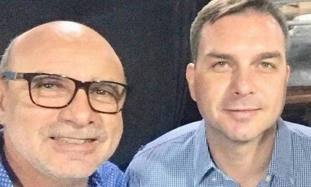 Ex-assessor Fabrício Queiroz e Flávio