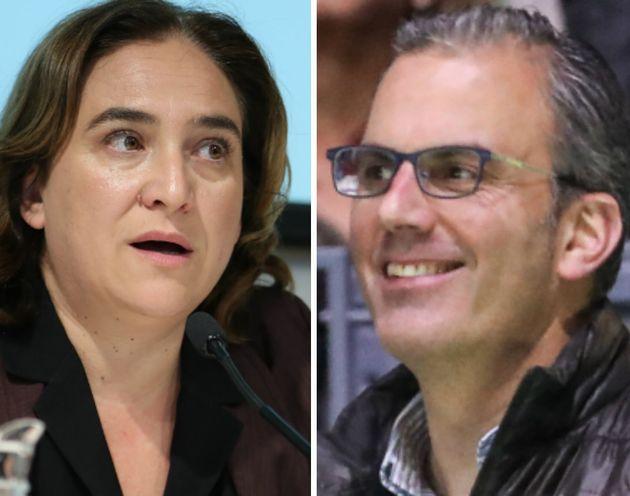 Ada Colau y Javier Ortega