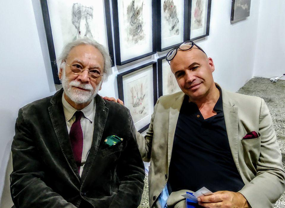 Ο κ.Παντελής Τσατσής (αριστερά) μαζί με τον τιμώμενο καλλιτέχνη Billy