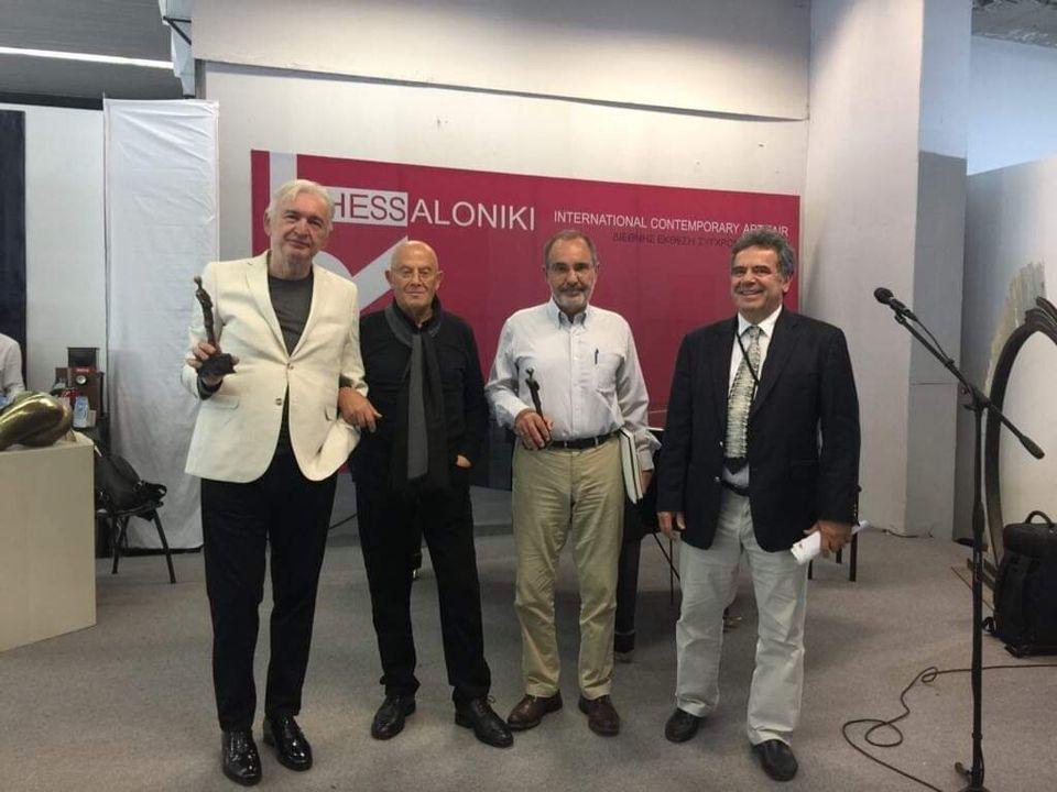 Οι δύο βραβευθέντες ο Mice Jankulovski (αριστερά) και στη μέση ο Μάνος Στεφανίδης