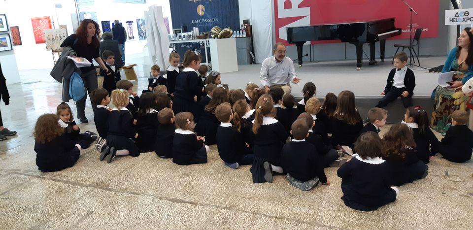 Ο Μάνος Στεφανίδης μυεί τα παιδιά στον ιδιαίτερο κόσμο της τέχνης.