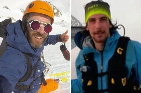 Gli sciatori travolti dalla valanga del Monte