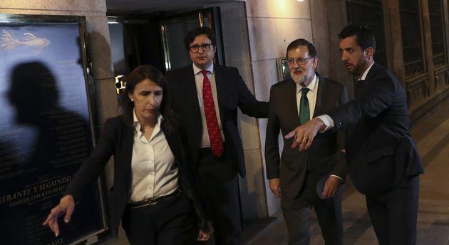 Mariano Rajoy a la salida del