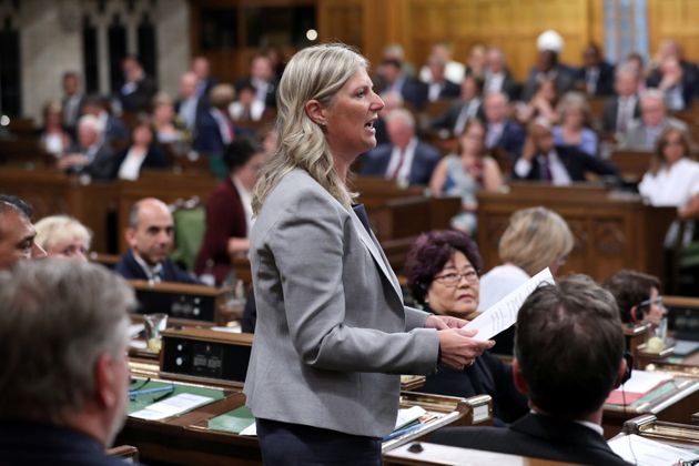 Leona Alleslev speaks during Question Period in the House of Commonsin Ottawa, Ontario on Sept. 17,