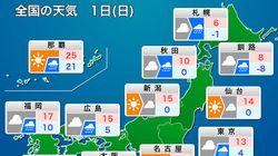 【12月1日の天気】