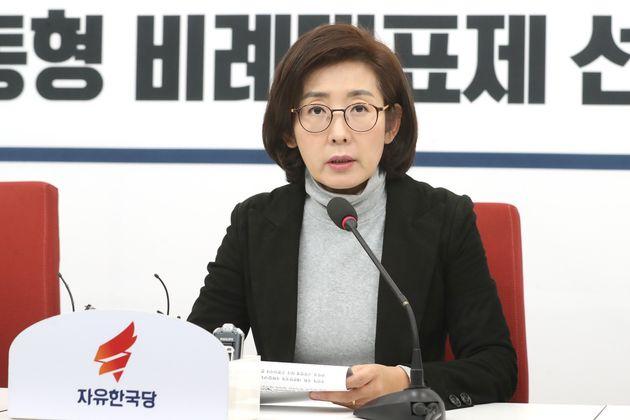 나경원 자유한국당 원내대표가 1일 오후 서울 여의도 국회에서 기자간담회를 갖고