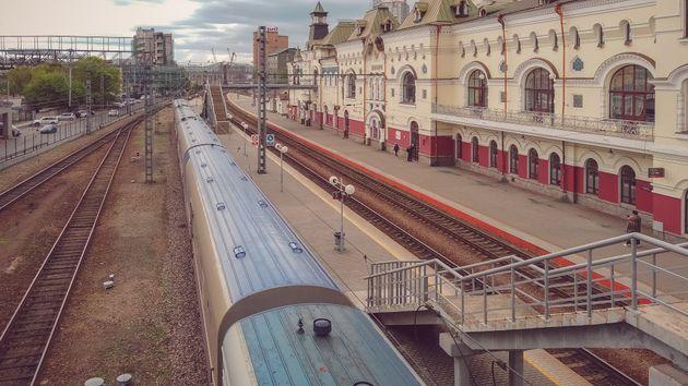 シベリア鉄道の東側の始発駅であるウラジオストク駅