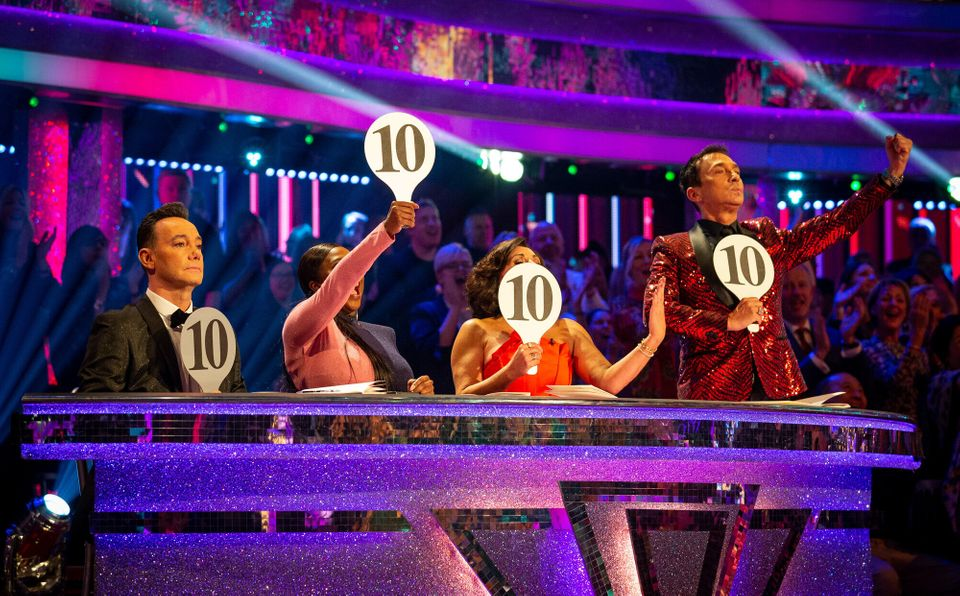The Strictly judges during last year's