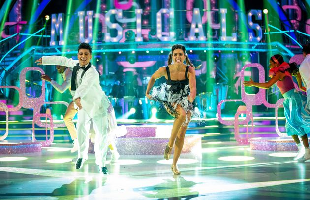Karim Zeroual and Amy Dowden performed a Jive during Musicals