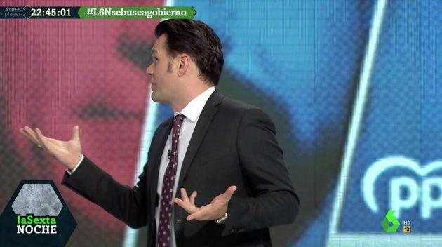 Iñaki López, presentador de 'LaSexta Noche', se disculpa con el público del