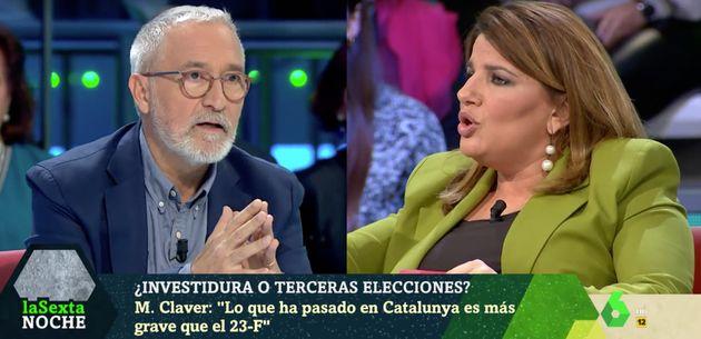 Xavier Sardá y María Claver en 'LaSexta