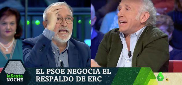 Xavier Sardá y Eduardo Inda en 'LaSexta