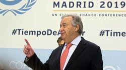 Changements climatiques: Guterres prévient qu'on approche le point de