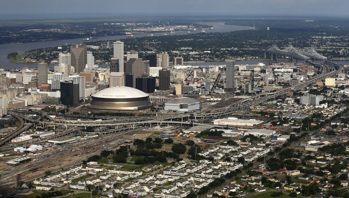An aerial view shows the skyline of New Orleans, Louisiana, U.S. on August 17, 2017. (REUTERS/Jonathan Bachman)