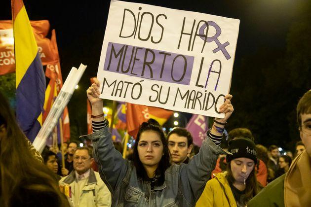 Imagen de archivo de una protesta feminista en