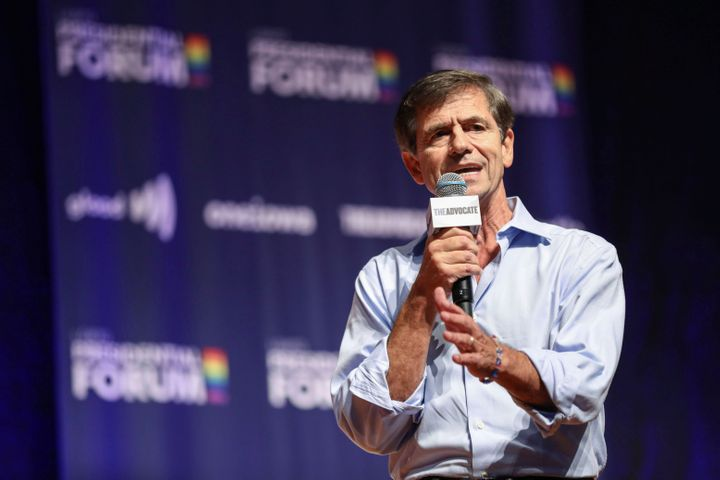 Democratic presidential candidate and former U.S. Rep. Joe Sestak speaks the One Iowa and GLAAD LGBTQ Presidential Forum in C