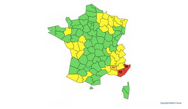 Pour le second week-end consécutif, le Var et les Alpes-Maritimes ont été placés en vigilance orange...
