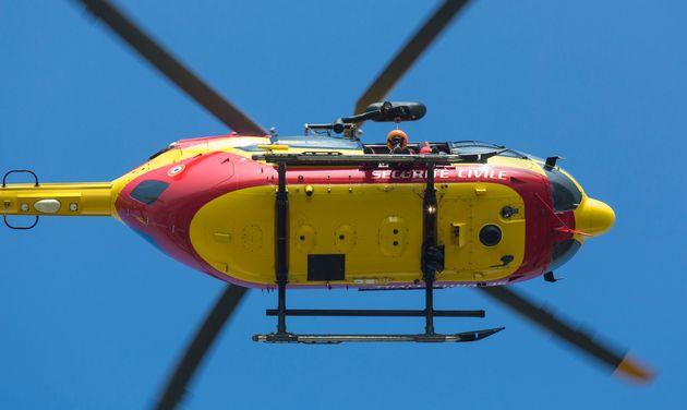 Trois secouristes de la Sécurité civile, partis pour une opération de sauvetage...