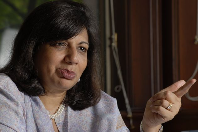 BANGALORE, INDIA  SEPTEMBER 21, 2007: Kiran Mazumdar Shaw, Chairman and MD of Biocon Ltd, photographed during an interview with Mint in Bangalore. (Photo by Hemant Mishra/Mint via Getty images)