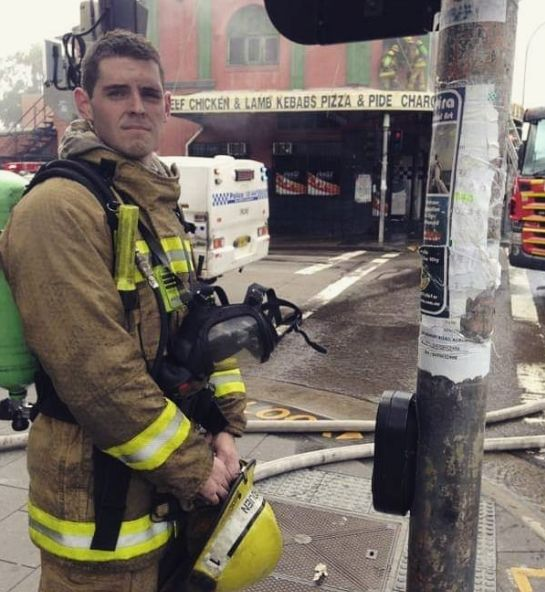 NSW firefighter Sam Rouen.