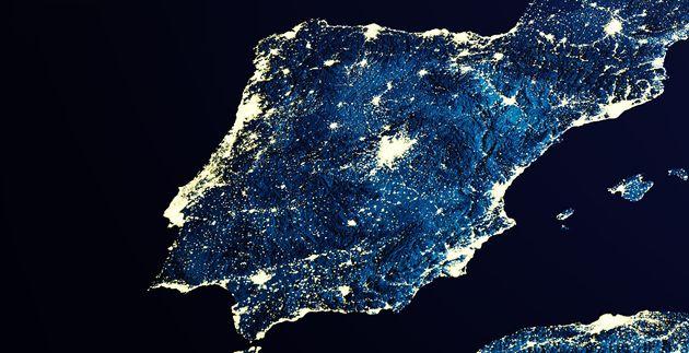 Imagen de satélite de la península