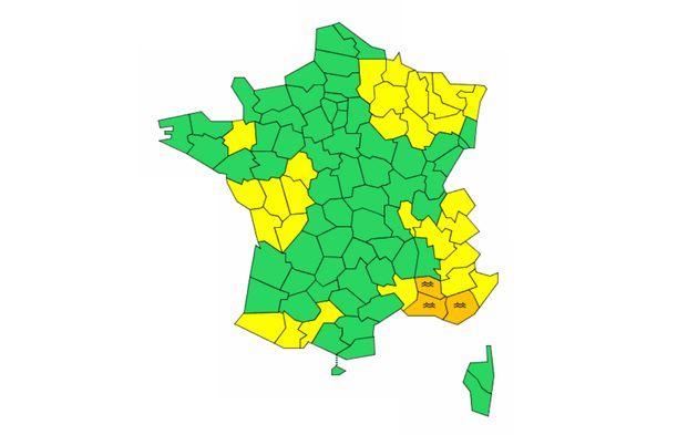 Météo France a levé l'alerte rouge ce lundi 2